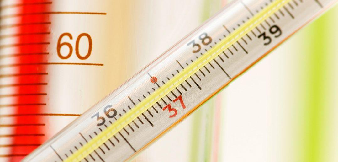 Broken mercury thermometer
