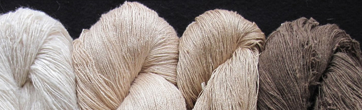 Natural colors of wild silk