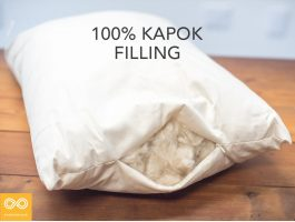 100% Kapok Pillow Organic Cotton Ticking