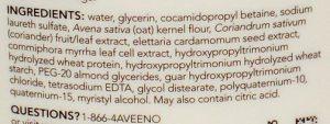 Aveno Ingredients