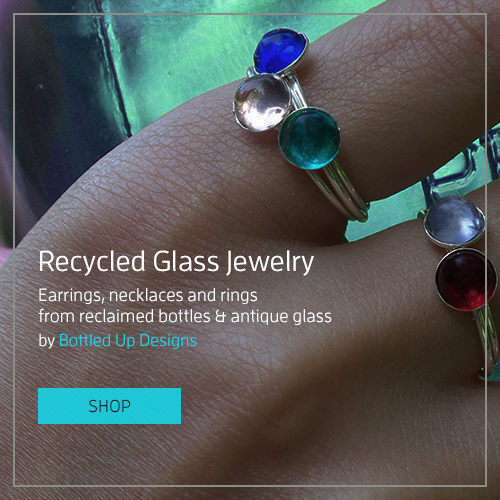 Recycled Glass Jewelry by Bottled Up Designs