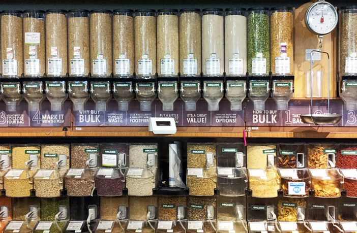 Bulkfood bins to reduce plastic packaging