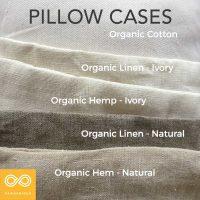 Handmade Organic Pillowcases