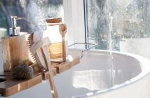 Natural non-toxic bathroom accessories