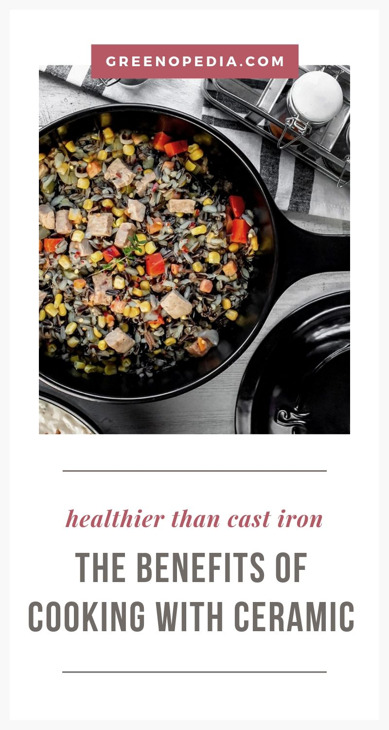 The Benefits of Ceramic Cookware... And Why Even Cast Iron & Stainless Steel Can Be Dangerous | Ceramic pots and pans are a healthy alternative to aluminum, copper, cast iron, and stainless steel, which can all leach metal particulates into your food. | Greenopedia #ceramiccookware #ceramicpotsandpans via @greenopedia