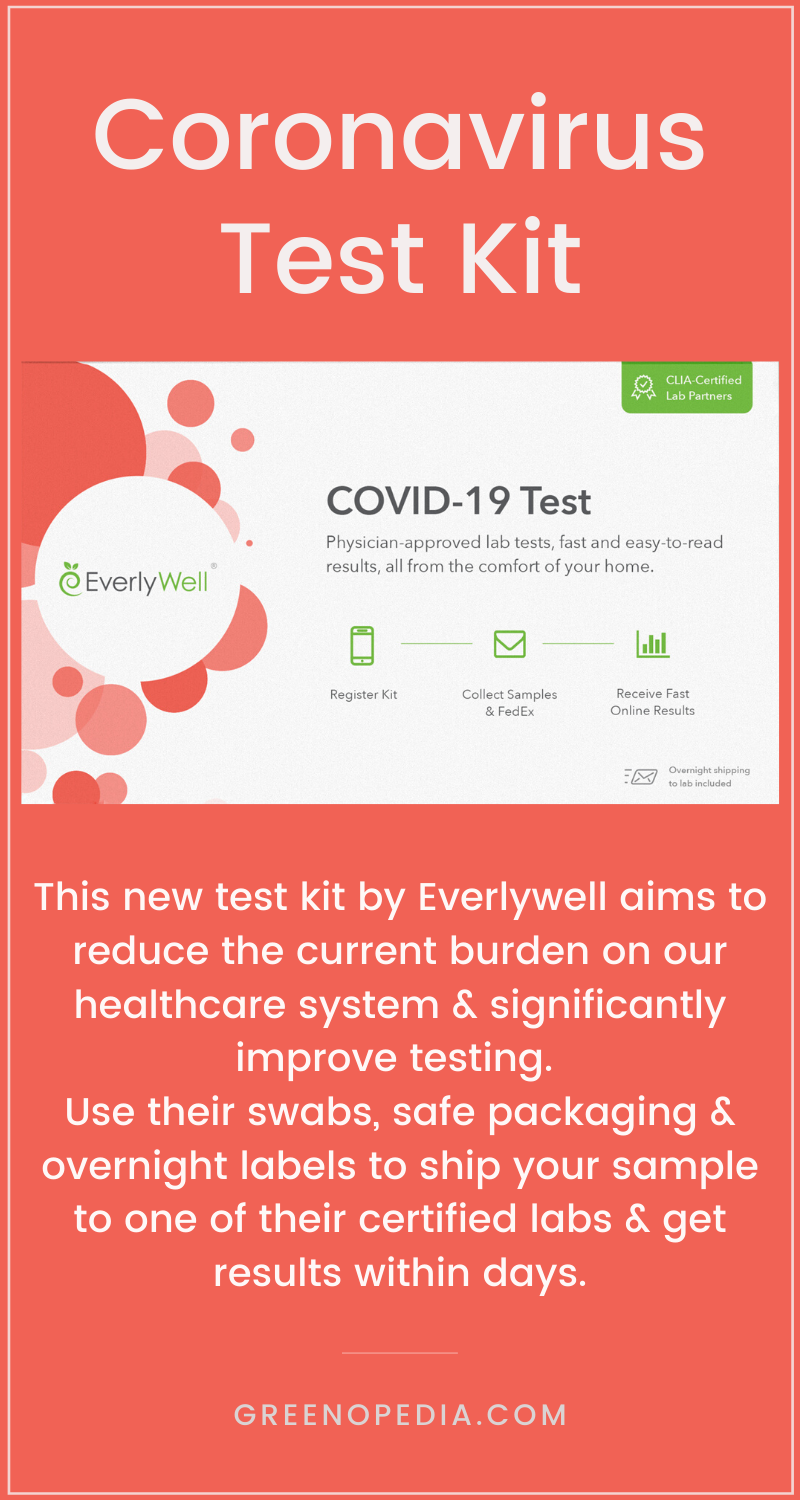 Everlywell is now offering at-home testing kits for COVID-19. Anyone who tests positive for the coronavirus will also receive a free telehealth consult. Here's how it works. 1. Request your COVID-19 kit online and answer a few screening questions. 2. Your kit will arrive in a day or so with the appropriate swabs to collect your sample. 3. Swab your throat per the included instructions, seal the swab in the provided container, and pop it in the mail. 4. Get your lab results digitally. Learn more. via @greenopedia