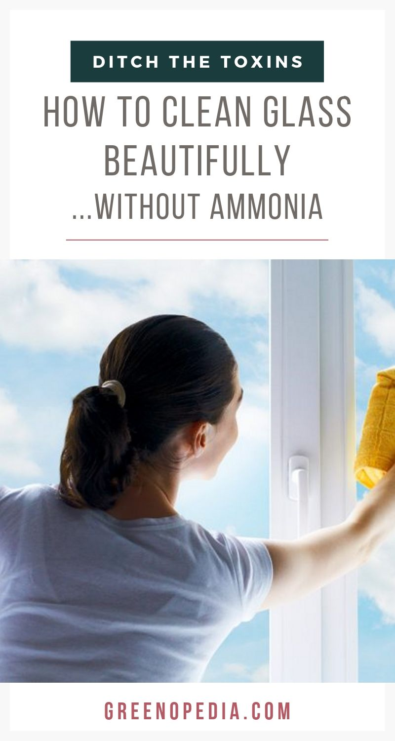 How to Clean Glass Beautifully with Natural Ingredients | White vinegar cleans glass naturally. It is just as effective as ammonia and doesn't leave behind streaks, toxic residue, or harmful fumes. | Greenopedia #cleanglassnaturally #naturalcleaners via @greenopedia