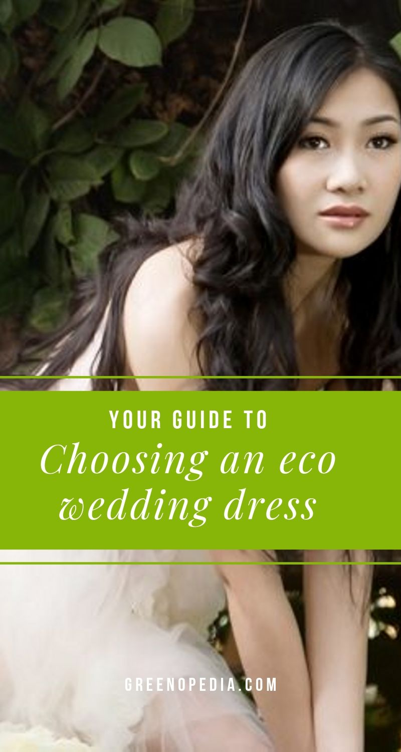 What's An Eco-Chic Wedding Dress And How Do I Get One? | An eco-chic wedding dress has been manufactured to environmental and ethical standards or gives new life to a pre-worn dress. Here's what to look for. | Greenopedia #ecoweddingdress via @greenopedia