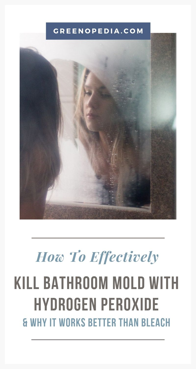 How to Kill Mold Effectively with Hydrogen Peroxide (Hint: It's Better Than Bleach) | The effervescent nature of hydrogen peroxide makes it more effective than chlorine bleach at reaching and killing mold on porous surfaces. Here's how. | Greenopedia #killmold #getridofmold #removemold #remediatemold #moldremediation via @greenopedia