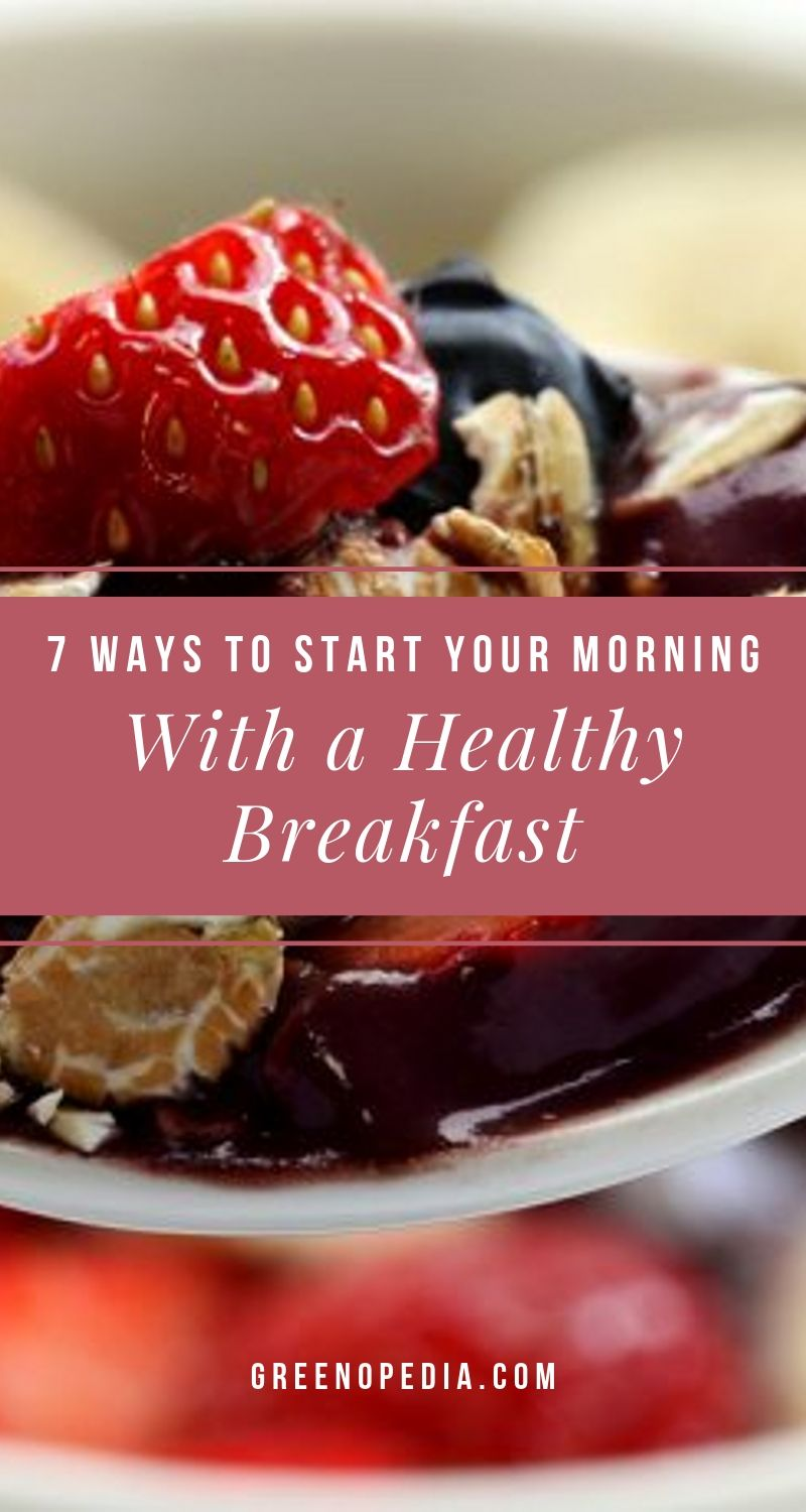 7 Healthy Vegetarian Breakfast Ideas ...That Are Also Quick And Easy | Need a few easy-but-healthy vegetarian breakfast ideas? Here are 4 sweet and 3 savory breakfasts -- mostly twists on traditional favorites. | Greenopedia #healthyvegetarianbreakfast via @greenopedia