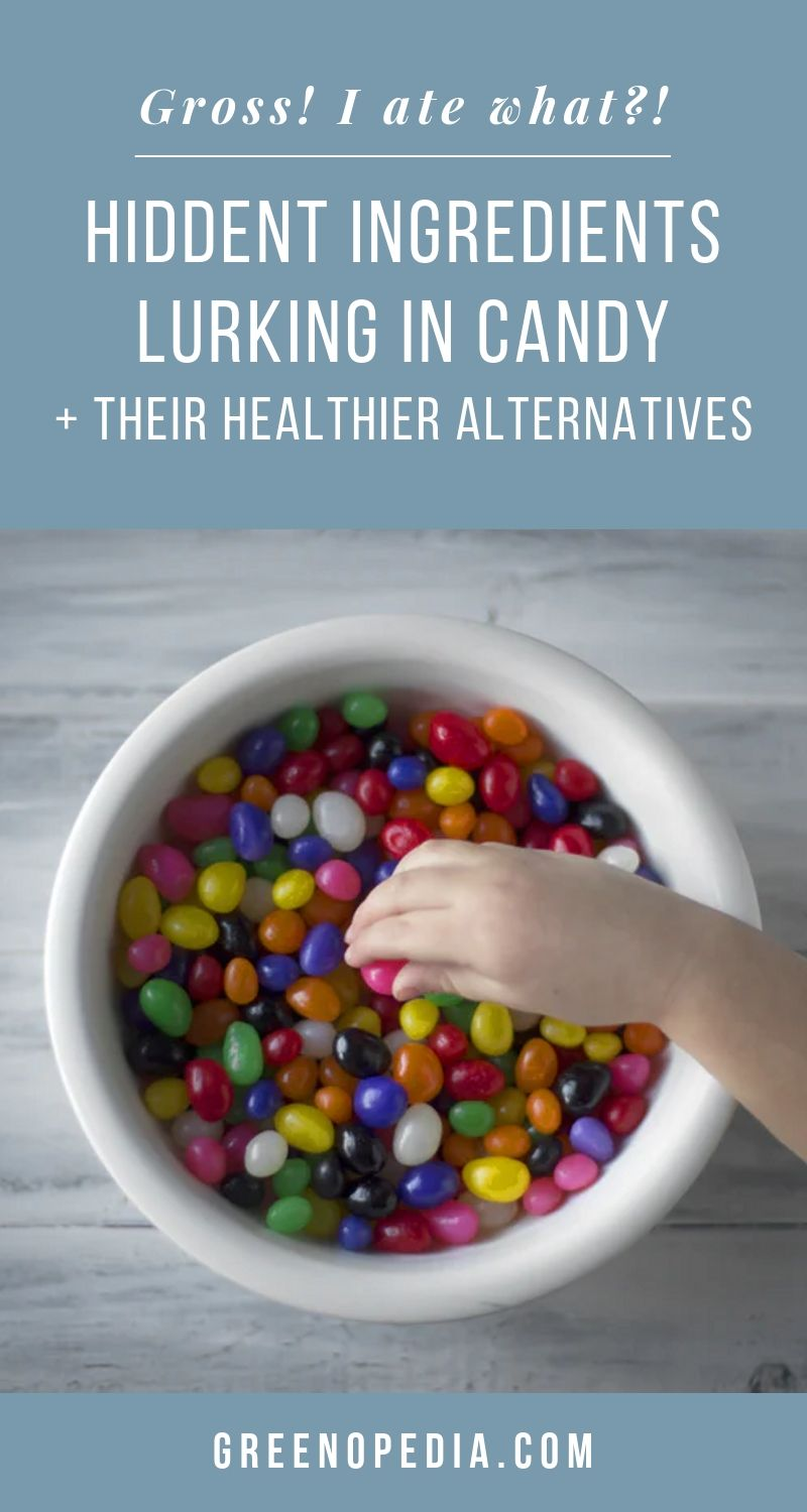 Hidden Ingredients Lurking In Candy And The Alternatives to Choose in their Place | Candymakers often hide undesirable ingredients behind nice sounding names. It might help sales, but it can be upsetting - even dangerous - for consumers. | Greenopedia #candyingredients #naturalcandy #organiccandy via @greenopedia