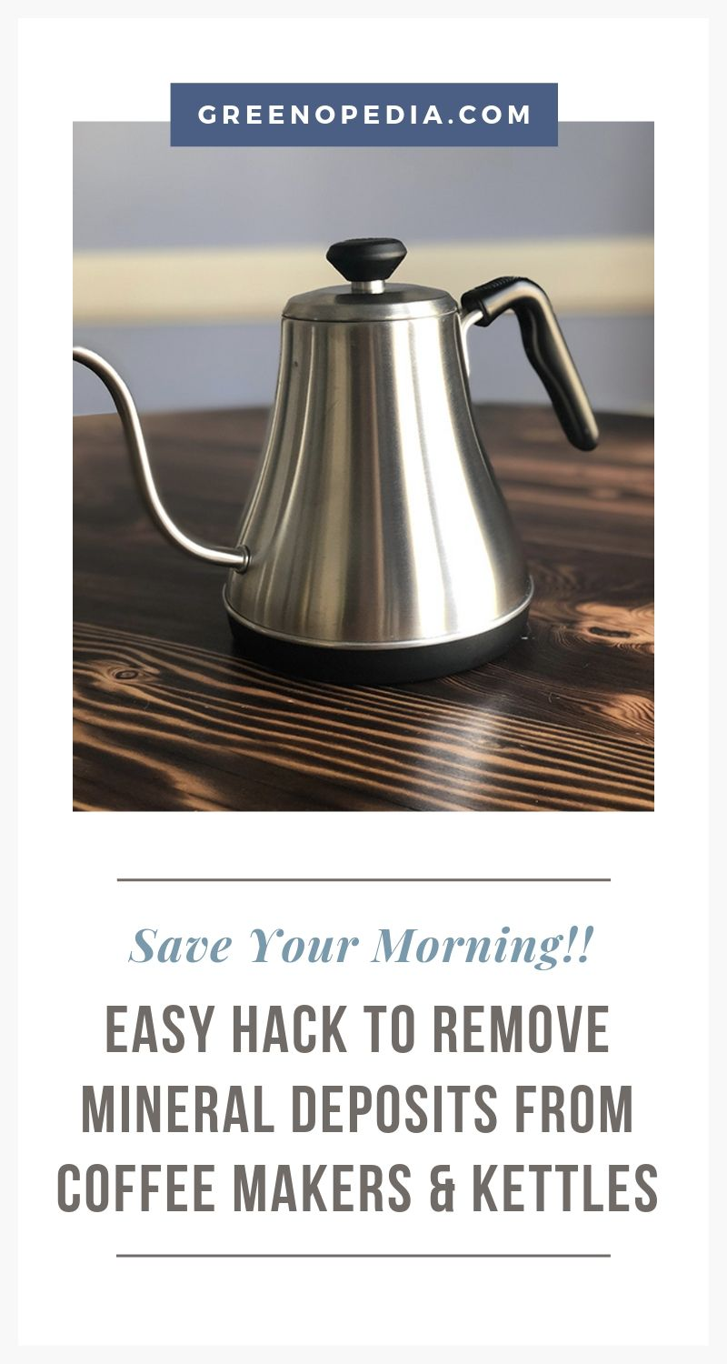Easy Hacks to Remove Mineral Deposits From Coffee Makers, Faucets and More | You know those mineral deposits clogging your coffeemaker & ruining your morning brew? Good news! It's really easy to remove with a little white vinegar. | Greenopedia #mineraldeposits via @greenopedia