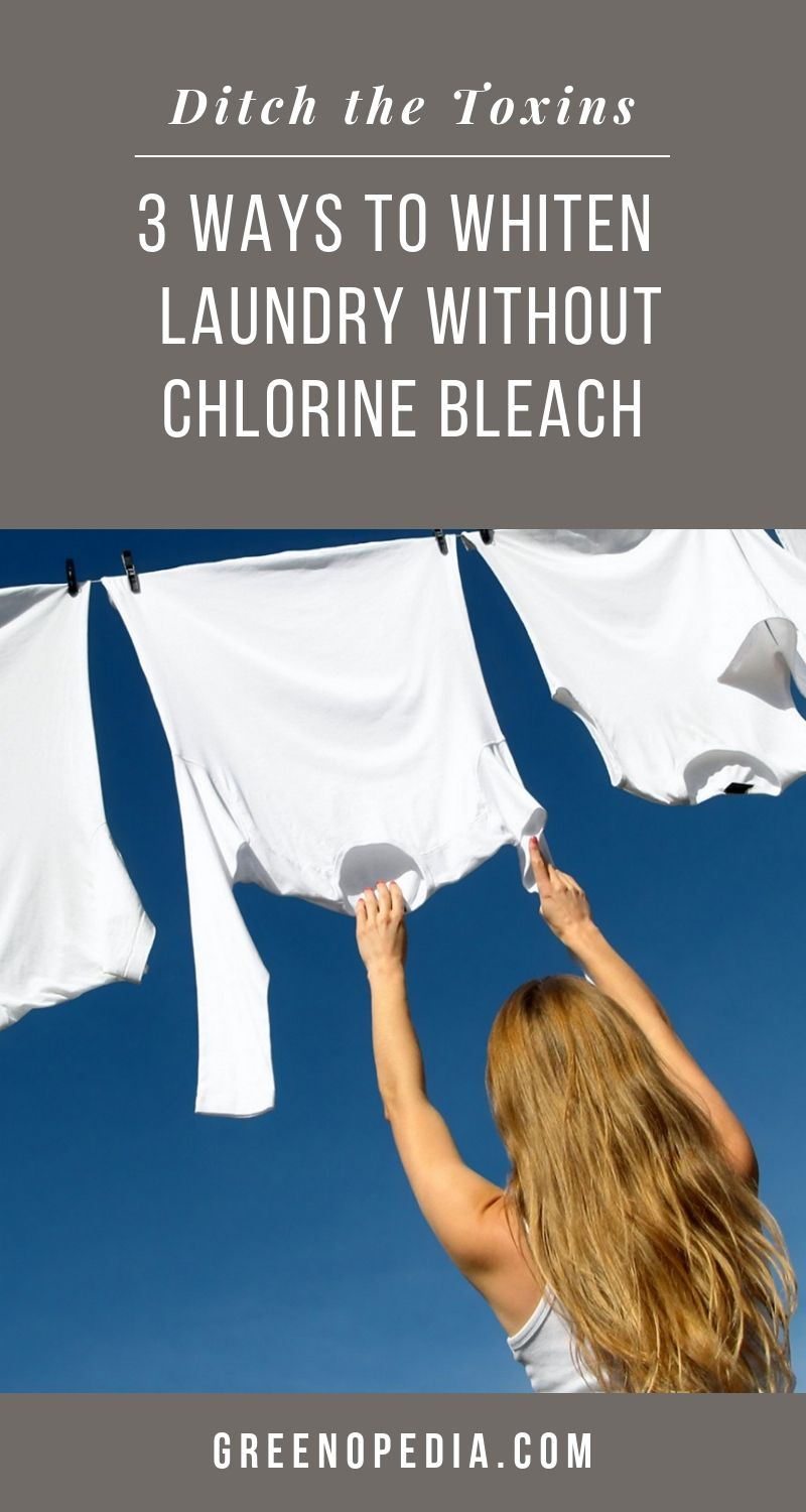 Toxin-Free Laundry: Natural Bleach Alternatives to Harsh Chlorine   The harsh fumes from chlorine are dangerous to inhale and can lead to serious respiratory issues over time. Natural bleach alternatives whiten laundry without toxic chemicals.   Greenopedia #naturalbleachalternative #oxygenbleach #naturalwhitening #whitennaturally #nontoxicbleachalternative #chlorinefreebleach #sunbleaching via @greenopedia