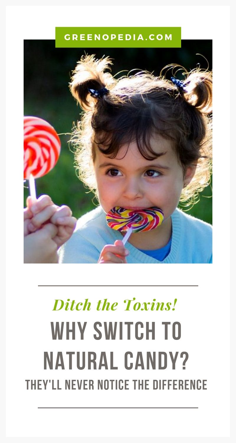 Why Switch to Natural Candy? (Seriously, the Kids Won't Notice a Difference & Neither Will You) | Sweets aren't meant to be healthy. But the idea that most candy, gum and packaged snacks are filled with petrochemicals & GMO ingredients is just disturbing. What can you do? For starters, you can choose natural candies that list unprocessed sweeteners such as raw cane sugar, coconut sugar, maple syrup, or honey on the ingredients list. | Greenopedia #naturalcandy #healthiercandy via @greenopedia