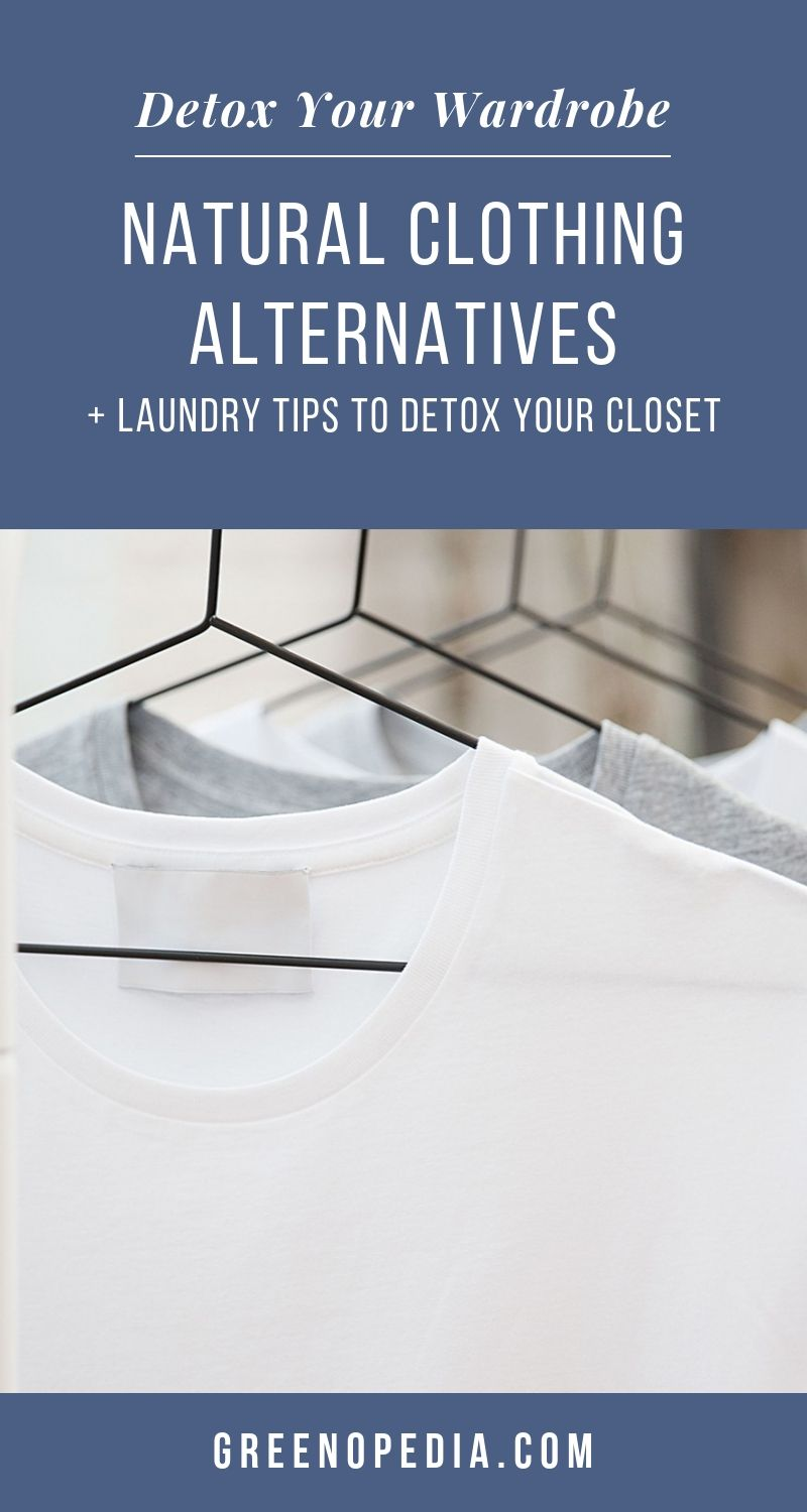 Natural Clothing Alternatives + Laundry Tips to Detox Your Closet | Rashes & other reactions to the chemicals in clothing are more common than you'd think. Let's detox your closet with these natural clothing & laundry tips. | Greenopedia #naturalclothing #organicclothing #nontoxicclothing #toxinfreeclothing #naturalclothes #nontoxicclothes #healthyclothing #healthyclothes #healthytextiles #naturaltextiles #healthiermaterials via @greenopedia