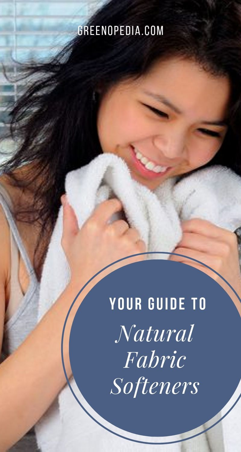 Ditch the Slimy Fabric Softeners - Nature's Got You Covered | Conventional dryer sheets & fabric softeners leave chemical residue behind to make our laundry feel soft & smell fresh. Natural laundry softners are a healthier option. | Greenopedia #Naturallaundrysoftener #nontoxicfabricsoftener #naturalfabricsoftener #nontoxiclaundrysoftener #vinegar #bakingsoda #wooldryerballs #softenlaundrynaturally via @greenopedia