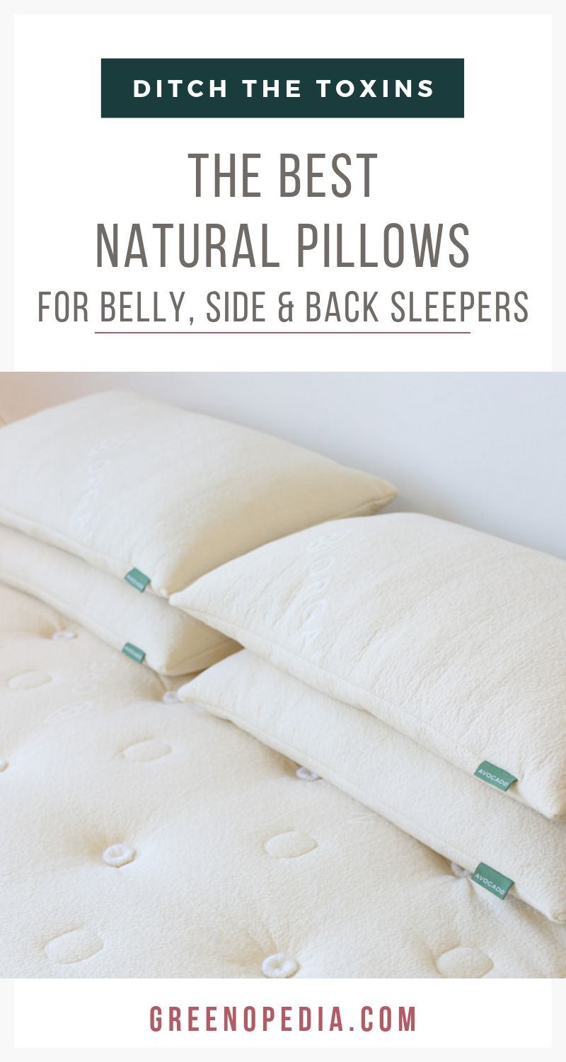 Buying Guide: Find the Right Natural Pillow For a Healthier and More Restful Night's Sleep | If you haven't replaced your pillow in a while, it's time. Here are the best natural pillow alternatives, as well as how to clean and protect your pillow. | Greenopedia #naturalpillow #kapok #organicpillow #organiccottonpillow via @greenopedia