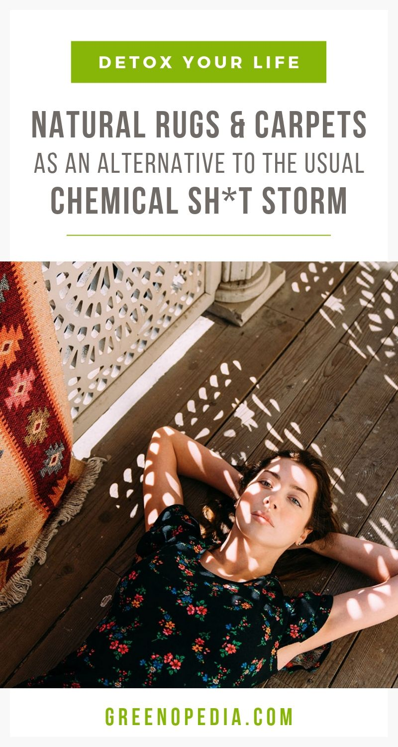 Natural Rugs & Carpets vs. the Usual Chemical Sh*t Storm | Natural, non-toxic rugs are a healthier alternative. The majority of today's rugs & carpets are made from chemical-filled materials that emit toxic fumes. | Greenopedia #nontoxicrugs #toxinfreerugs #healthyrugs #organicrugs #naturalrugs via @greenopedia