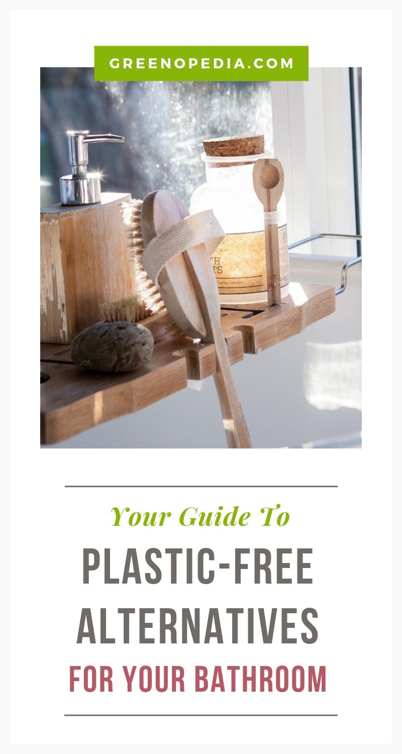 Let's Un-Plastic Your Bathroom, Shall We? | Heat and humidity can cause toxins to leach from shower curtains and other plastic bathroom accessories. Here are your plastic-free bathroom alternatives. | Greenopedia #plasticfree #nontoxicalternatives via @greenopedia