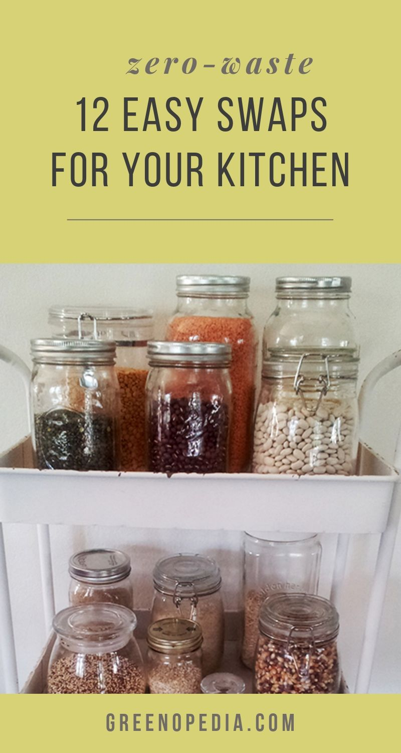 12 Easy Swaps to Rid Your Kitchen of Plastic and Aluminum | From cookware to utensils to food storage, plastic & aluminum sneak into our kitchen from all angles. Let's look at some healthier & more eco alternatives. | Greenopedia #plastic #zerowaste #plasticfree via @greenopedia
