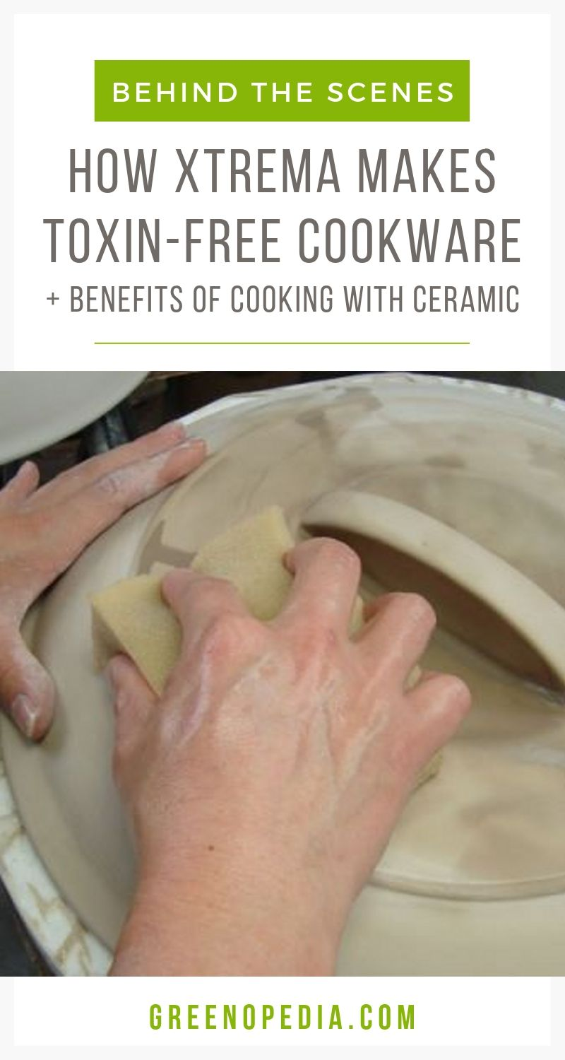 BRAND SPOTLIGHT: Xtrema Ceramic Cookware | In this brand spotlight, we'll learn about the benefits of pure ceramic cookware and get a quick behind-the-scenes peek at Xtrema's manufacturing process. | Greenopedia #Xtremaceramiccookware #Xtremacookware #ceramiccookware via @greenopedia