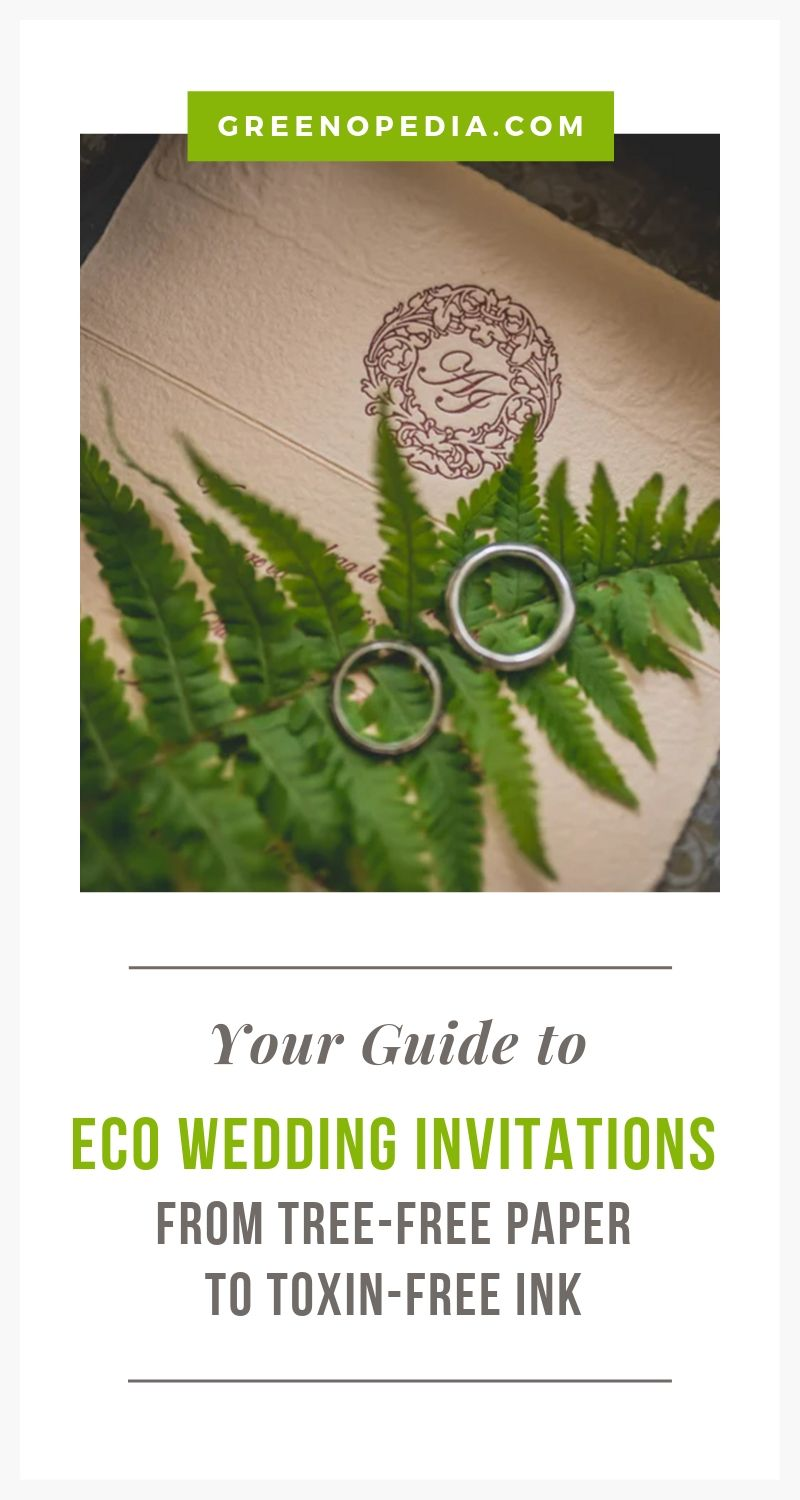 Eco-Friendly Wedding Invitations are A Perfect Marriage of Style and Sustainability - Here are Your Options | Eco-wedding invitations can be made from recycled paper, plantable seed stationery, and a host of paper-free alternatives. You're not short on options! | Greenopedia #EcoWeddingInvitations #treefreeweddinginvites #sustainableweddinginvitations #Sustainableweddingpaperoptions via @greenopedia