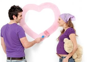 Painting the nursery while pregnant