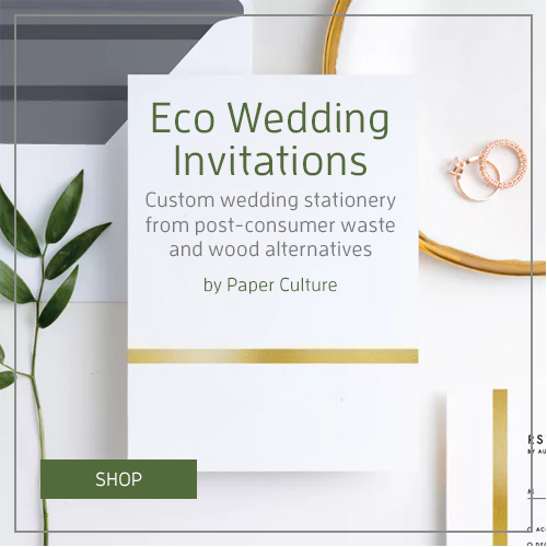 Eco Wedding Invites by Paper Culture