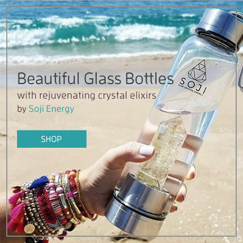 Glass Bottles with Crystal Energy by Soji