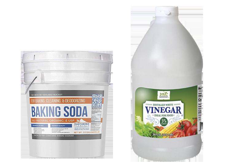 Natural laundry softeners: White vinegar & baking soda